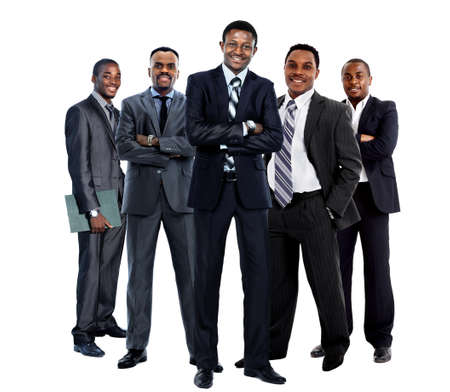 business casual: african american business team Stock Photo