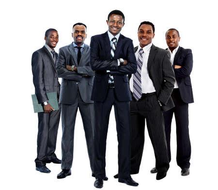 team working: african business team americano