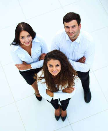 people business: Top view of business people
