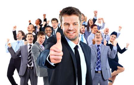 mujer alegre: Unidad de negocio feliz.