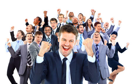 Happy business group. Foto de archivo