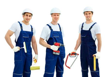 mantenimiento: Grupo de trabajadores de la industria profesionales Foto de archivo