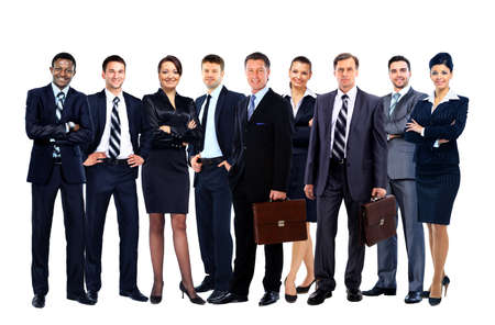 businessteamwork: Young attractive business people - the elite business team