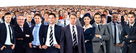crowd of people: Young attractive business people - the elite business team