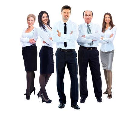 personas de pie: grupo de personas de negocios con camisa blanca