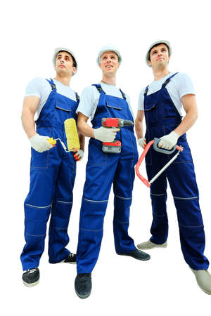 group of workers: Group of professional industrial workers Stock Photo
