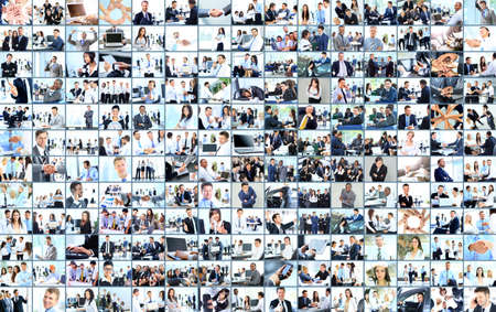 Business collage made of many business pictures photo