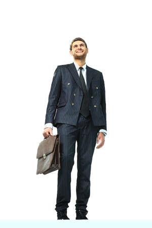 vertex: businessman standing on vertex Stock Photo