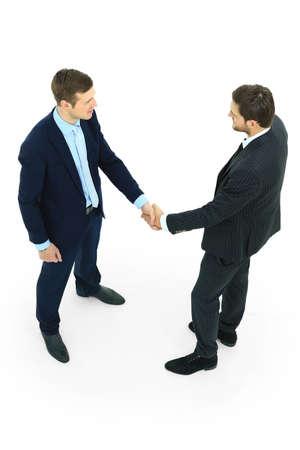 business partnership: handshake isolated on white background