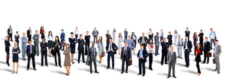 Young attractive business people - the elite business team photo