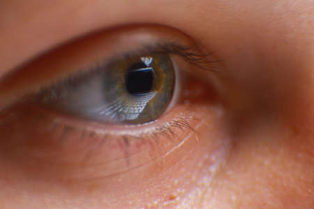 subconsciousness: Reflection laptop in an eye