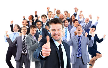 幸せなビジネス グループ。 写真素材