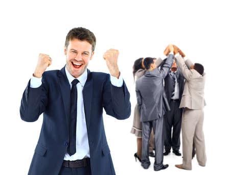 uomo felice: Gruppo di affari felice.