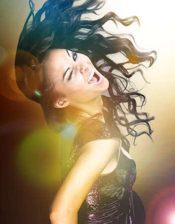 eccentric: Eccentric Young Woman Dancing Stock Photo