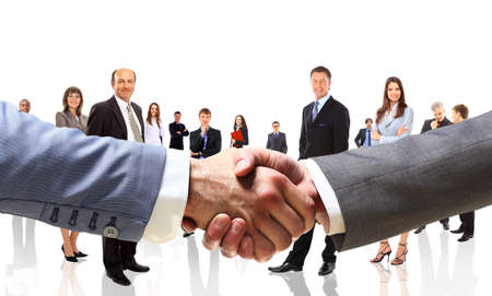 handshake on the background group of business people photo