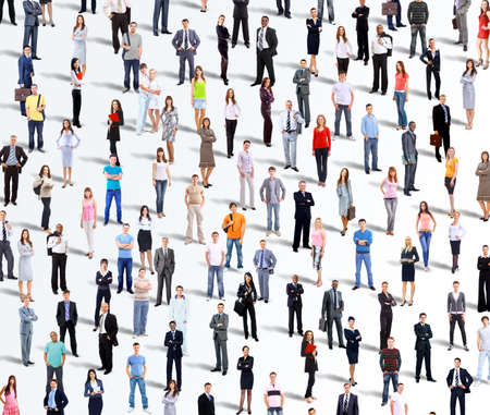 personas de pie: Grupo de personas de negocios. Aislado sobre fondo blanco