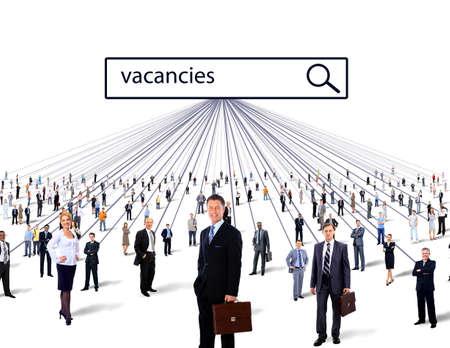 vacancies: people vacancies business concept