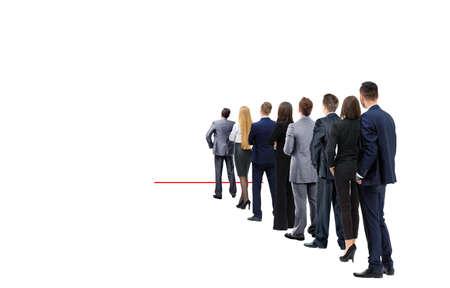 Czekając na swoją kolej Ludzie w kolejce