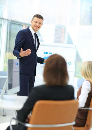 Présentation d'entreprise réunion d'affaires de gens d'affaires Banque d'images