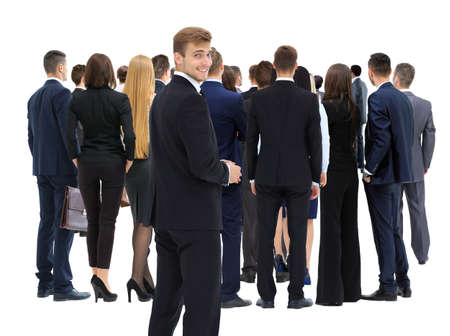 large group of business people: Large group of business people. Over white background Stock Photo