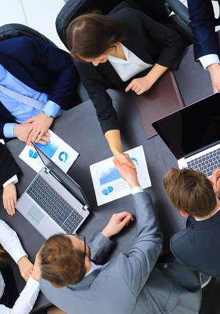 applaud: Business Team Meeting Handshake Applaud Concept Stock Photo