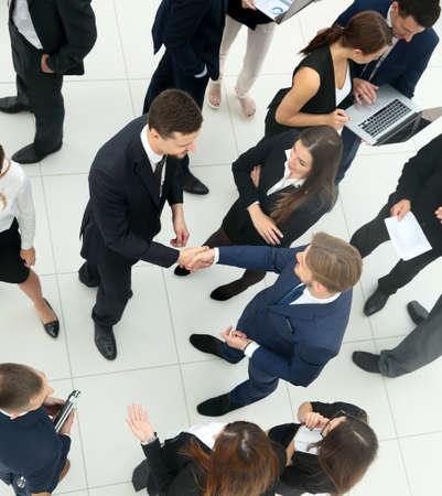 team communication: Business People Conversation Communication Talking Team Concept Stock Photo