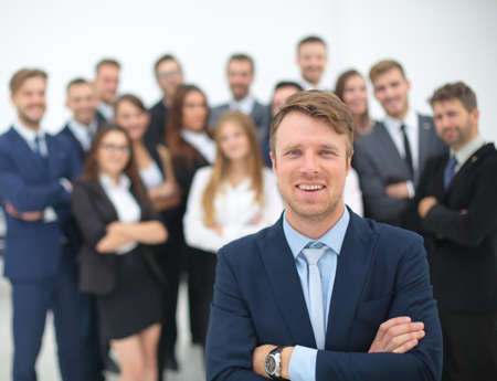 management team: Global business, management , connection and people concept. Business team Stock Photo