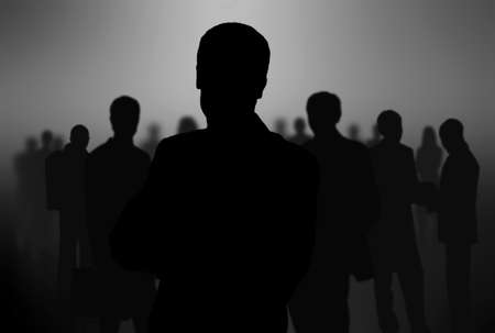 black people: black silhouettes of business people