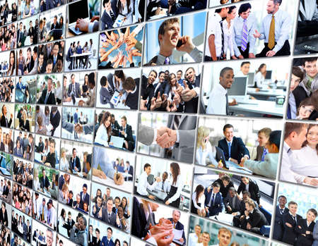 teamwork business: Business collage Stock Photo