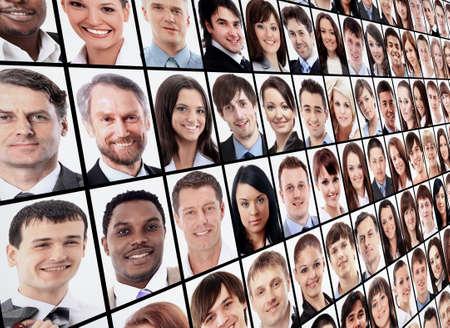 Mnoho izolované portréty lidí