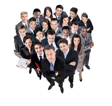 multi ethnic: Top view of a group of business people