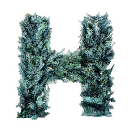 Christmas Alphabet isolated on white Stock Photo