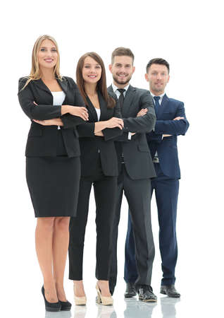 busines: Successfull busines team isolated on white background