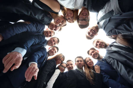 group of business people: business, people and teamwork concept - business team showing ok hand sign at office