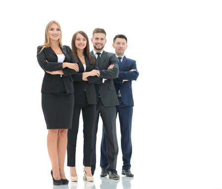 business team: Successfull busines team isolated on white background