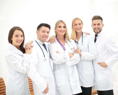 estudiantes medicina: group of young people pointing at something Foto de archivo