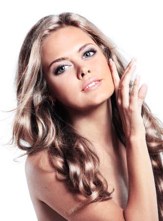 beauty woman: Portrait of beautiful woman Stock Photo