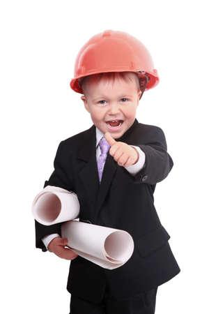 Young boy engineer