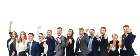 Happy business group. Stockfoto