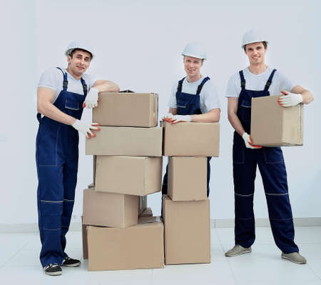 Industrial workers: Group of professional industrial workers Stock Photo