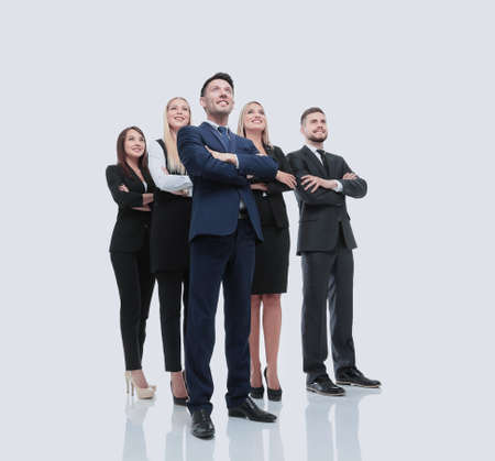 successfull: Successfull busines team isolated on white background
