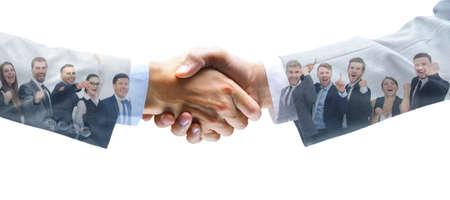 振動の手と事業チーム 写真素材