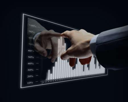 Diagramme virtuel de main-d'?uvre Banque d'images - 78283670