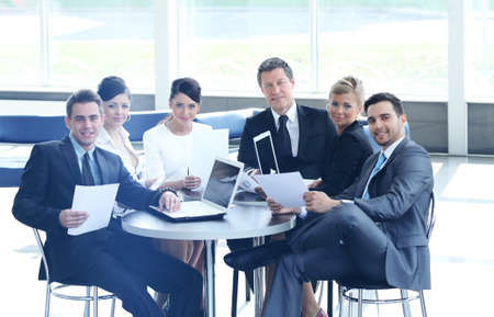 company accountant says about the issues at a working meeting photo