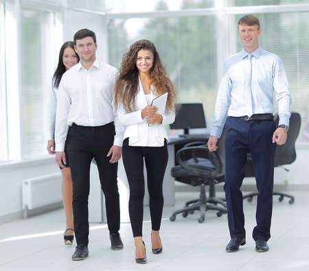 group of young business people in office photo