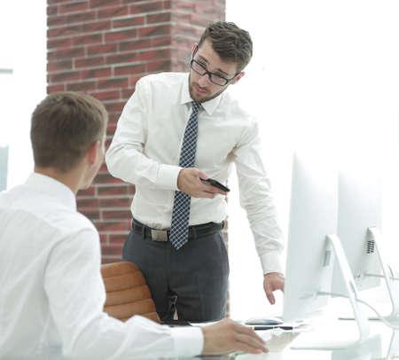 businessman decides to work problems