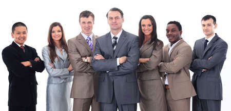 businessman and professional multinational business team photo