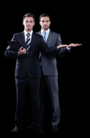 An invitation to cooperate by two business partners. photo