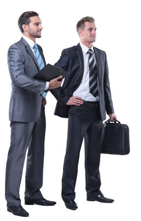 Manager and the lawyer with documents Stock Photo
