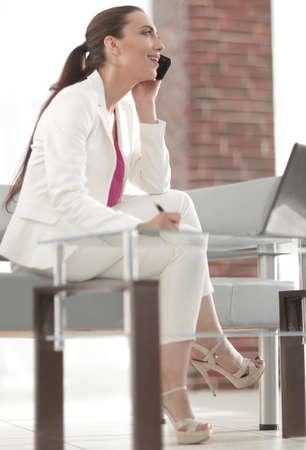 business woman in modern office